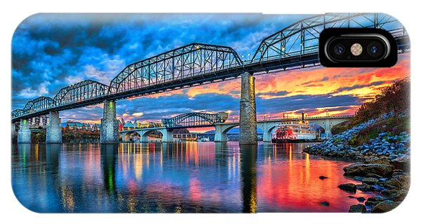 River iPhone Case - Chattanooga Sunset 3 by Steven Llorca