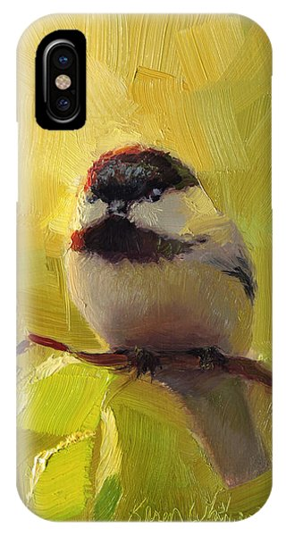 Chatty Chickadee - Cheeky Bird IPhone Case