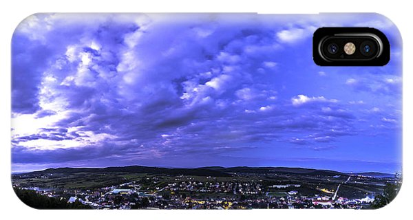 Checiny Town Blue Hour Panorama IPhone Case