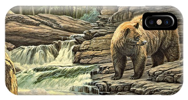 Yellowstone iPhone Case - Checking Downstream       by Paul Krapf
