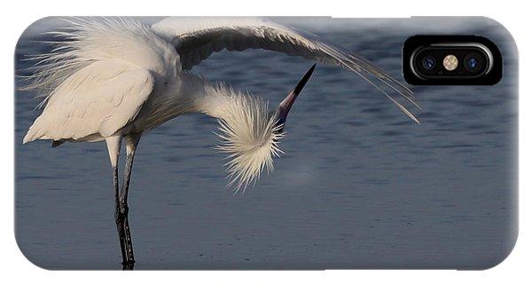 Checking For Leaks - Reddish Egret - White Form IPhone Case