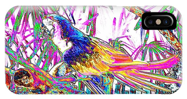 Cheerful Parrot. Colorful Art Collection. Promotion - August 2015 IPhone Case