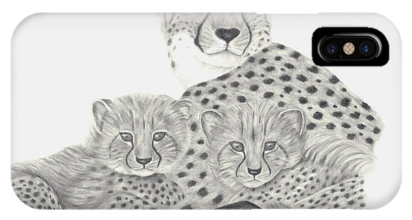 Cheetah And Her Cubs IPhone Case