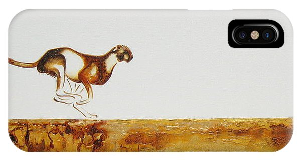 Cheetah Race - Original Artwork IPhone Case
