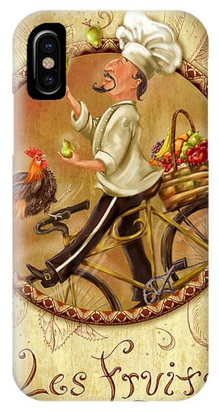 Chefs On Bikes-les Fruits IPhone Case