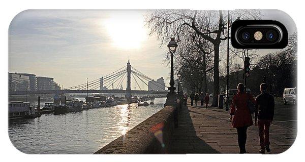 Chelsea Embankment London Uk IPhone Case