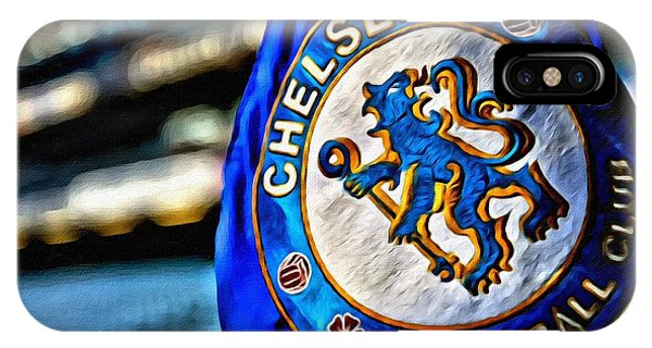 Stamford iPhone Case - Chelsea Football Club Poster by Florian Rodarte
