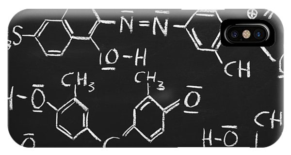 White Background iPhone Case - Chemical Formulas by Chevy Fleet