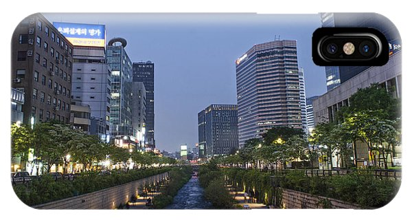 Cheonggyecheon Stream In Seoul South Korea IPhone Case
