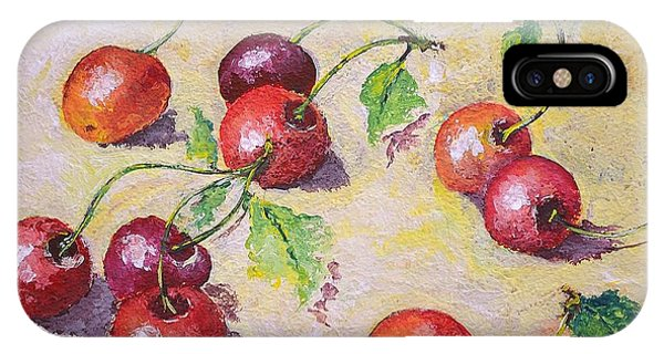 Cherries On The Ground IPhone Case