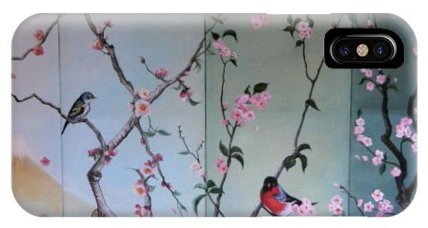 Cherry At The Foot Of Mount Fuji IPhone Case