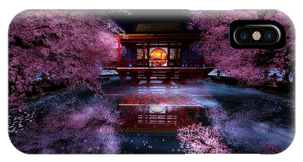 Cherry Blossom Tea House IPhone Case