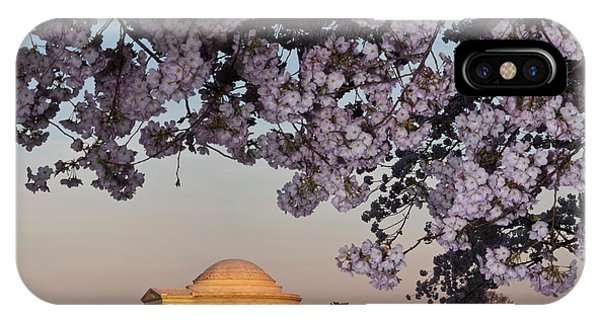 Tidal iPhone Case - Cherry Blossom Tree With A Memorial by Panoramic Images
