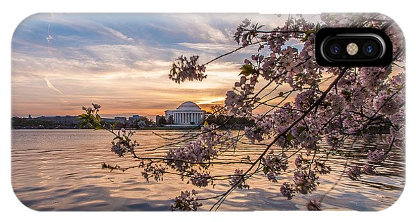 Blossom iPhone Case - Cherry Blossoms At The Jefferson Memorial by Tony Delsignore