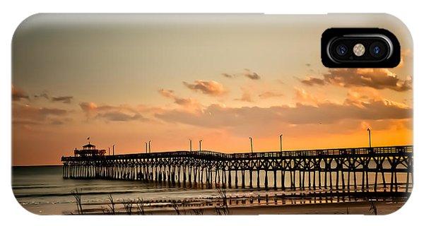 Cherry Grove Pier Myrtle Beach Sc IPhone Case