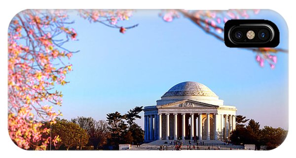 Jefferson Memorial iPhone Case - Cherry Jefferson by Olivier Le Queinec