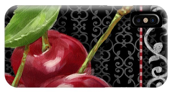 Cherry On Black And White IPhone Case