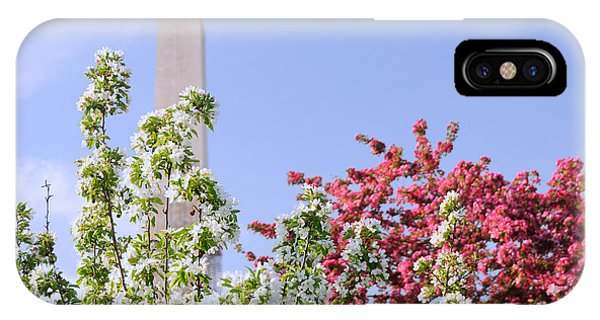 Cherry Trees And Washington Monument Four IPhone Case