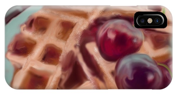 Cherry Waffles IPhone Case