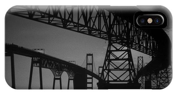 Chesapeake Bay iPhone X Case - Chesapeake Bay Bridge At Annapolis by Skip Willits