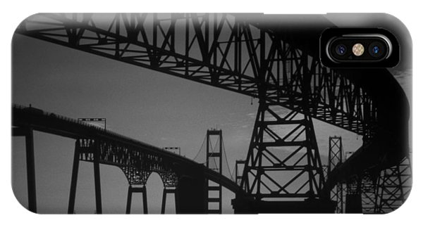 Chesapeake Bay Bridge At Annapolis IPhone Case