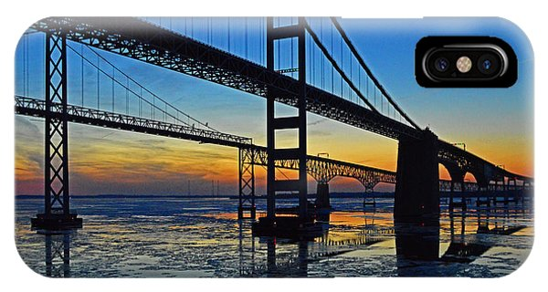 Chesapeake Bay Bridge Reflections IPhone Case