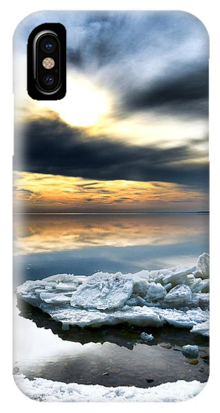 Chesapeake Bay iPhone X Case - Chesapeake Bay Winter by Olivier Le Queinec