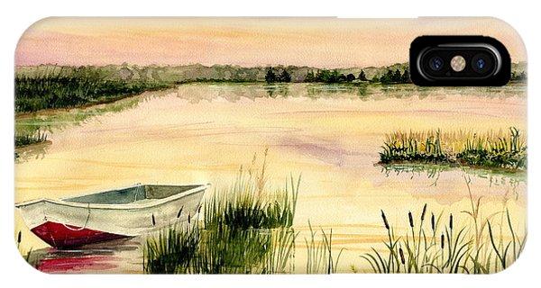 Chesapeake Bay iPhone X Case - Chesapeake Marsh by Melly Terpening
