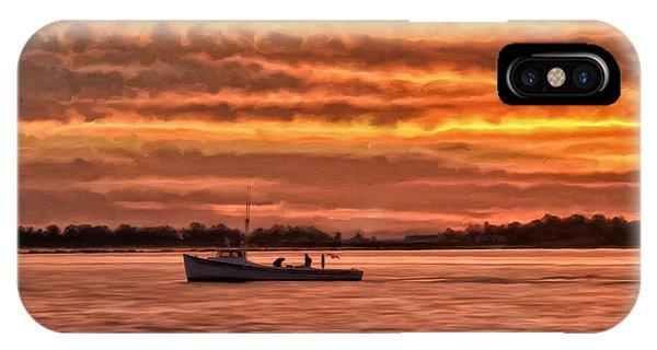 Chesapeake Bay iPhone X Case - Chesapeake Watermen by Michael Pickett