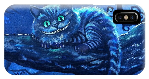 Alice In Wonderland iPhone Case - Cheshire Cat by Tom Carlton
