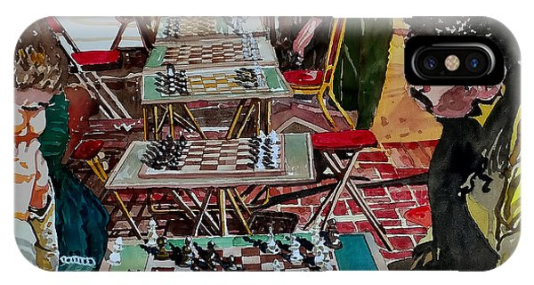 Chess Match On Market Street IPhone Case