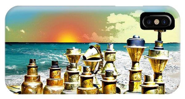 Chess On Beach Phone Case by Frank Savarese