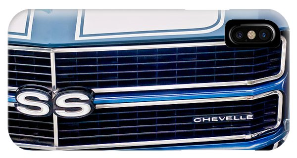 IPhone Case featuring the photograph Chevrolet Chevelle Ss Grille Emblem 2 by Jill Reger