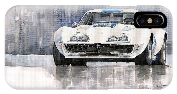 Car iPhone X Case - Chevrolet Corvette C3 by Yuriy Shevchuk