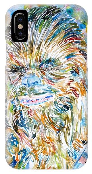 Chewbacca Watercolor Portrait IPhone Case