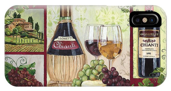 Red iPhone X Case - Chianti And Friends 2 by Debbie DeWitt