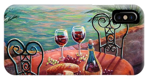 Table For Two iPhone Case - Chianti Time by Marilyn Smith