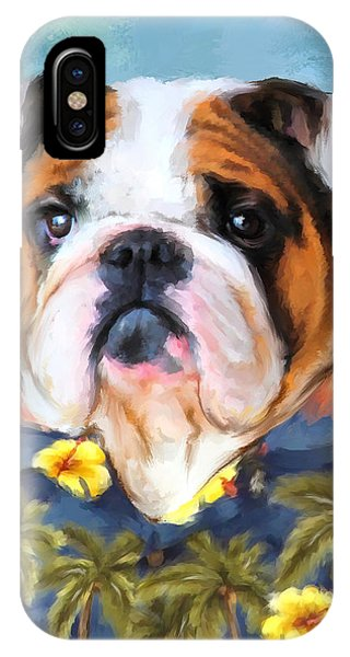 Chic English Bulldog IPhone Case