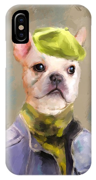 Chic French Bulldog IPhone Case