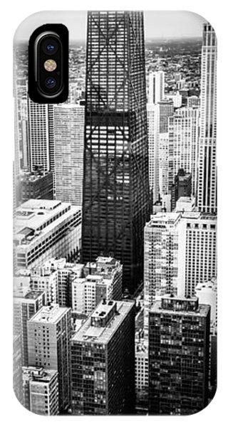 Chicago Aerial Vertical Panoramic Picture IPhone Case