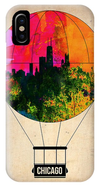 Midwest iPhone Case - Chicago Air Balloon by Naxart Studio
