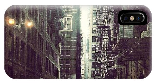 Architecture iPhone Case - Chicago Alleyway by Jill Tuinier