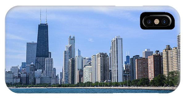 Chicago As Seen From North Ave Beach Phone Case by Michael  Bennett