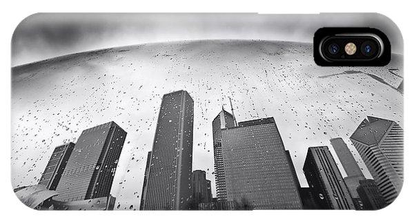 Chicago Skyline Art iPhone Case - Chicago Black And White Photography by Dapixara Art