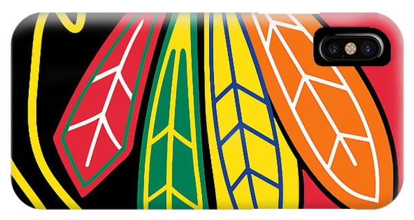 University Of Illinois iPhone Case - Chicago Blackhawks by Tony Rubino