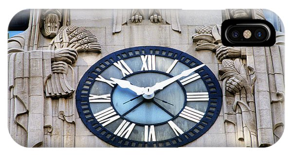 Art And Craft iPhone Case - Chicago Board Of Trade Building Clock by Panoramic Images