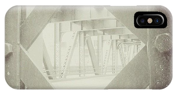 Scenic iPhone Case - Chicago Bridge Ironwork Vintage Photo by Paul Velgos