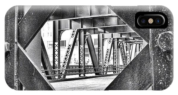Architecture iPhone Case - Chicago Bridge Iron In Black And White by Paul Velgos
