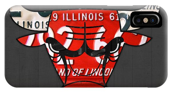 Illinois iPhone Case - Chicago Bulls Basketball Team Retro Logo Vintage Recycled Illinois License Plate Art by Design Turnpike
