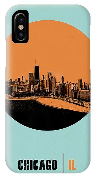 Illinois iPhone Case - Chicago Circle Poster 2 by Naxart Studio